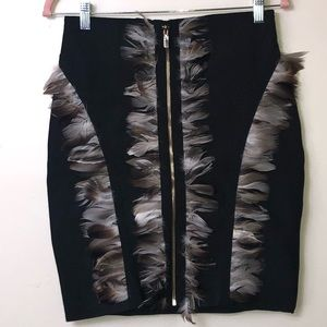 Gold Label Wow Couture Black Feather Skirt. Large